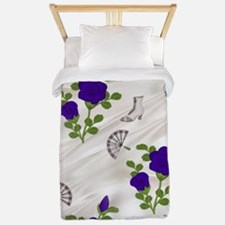 Vintage Purple Roses Twin Duvet