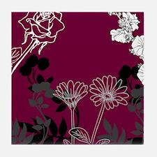 Floral Life Tile Coaster