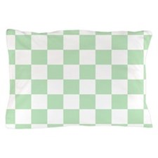 Mint Green checkerboard Pillow Case
