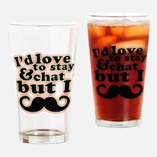 I Mustache! *Must Dash! Drinking Glass