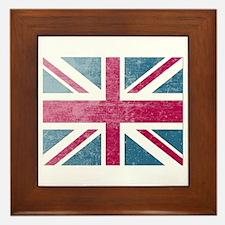 Union Jack Retro Framed Tile