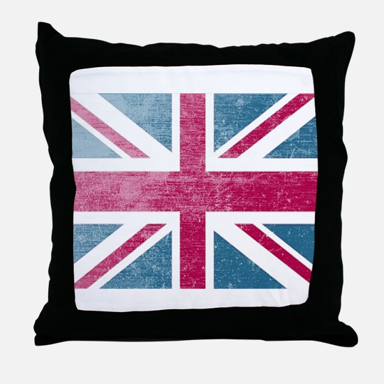 Union Jack Retro Throw Pillow
