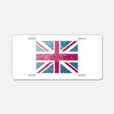 Union Jack Retro Aluminum License Plate