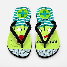ICU Nurse 1 Flip Flops