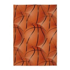 Basketballs 5'x7'area Rug