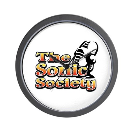 Sonic Society Black and Gold Wall Clock