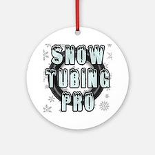 Snow Tubing Pro Round Ornament