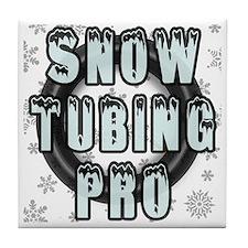 Snow Tubing Pro Tile Coaster