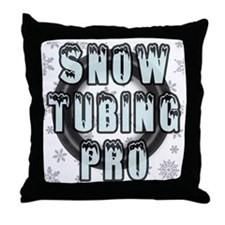Snow Tubing Pro Throw Pillow