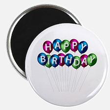 HAPPY BDAY BOLLOONS Magnet