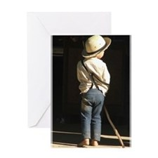 Amish Boy Greeting Cards