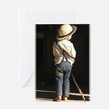 Amish Boy Greeting Cards