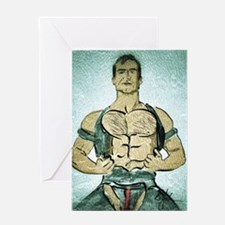 Leather Chap Greeting Cards