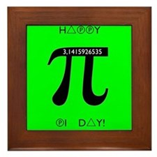 Pi day Framed Tile