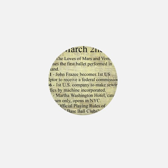 March 2nd Mini Button