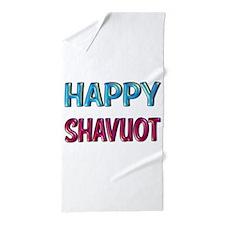 HAPPY SHAVUOT Beach Towel