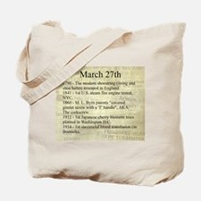 March 27th Tote Bag