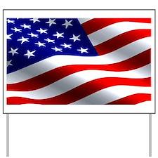 US Flag Yard Sign