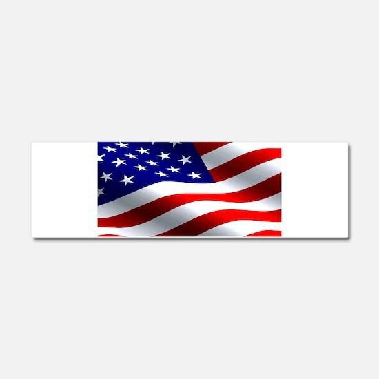 US Flag Car Magnet 10 x 3