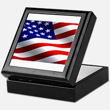 US Flag Keepsake Box
