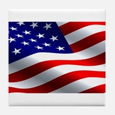 US Flag Tile Coaster