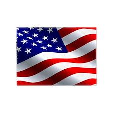Us Flag 5'x7'area Rug