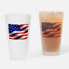 US Flag Drinking Glass