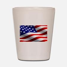 US Flag Shot Glass