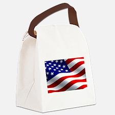 US Flag Canvas Lunch Bag
