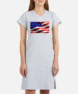 US Flag Women's Nightshirt