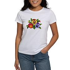 3 pansies T-Shirt