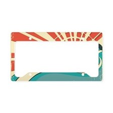 wave at dawn License Plate Holder