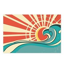 wave at dawn Postcards (Package of 8)