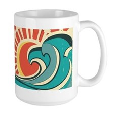 wave at dawn Mugs