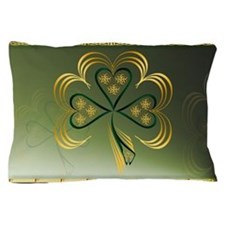One Big Bright Shamrock Pillow Case