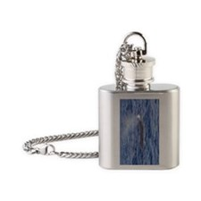 Pot Whale Rainbow Flask Necklace