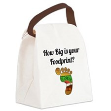 How Big Is Your Foodprint? Canvas Lunch Bag