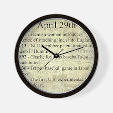 April 29th Wall Clock