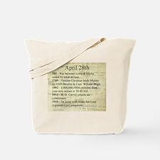 April 28th Tote Bag