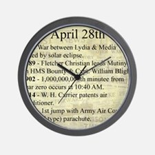 April 28th Wall Clock