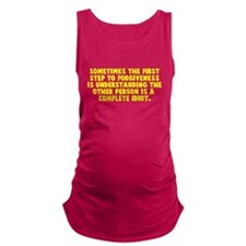 Other person is an idiot Maternity Tank Top
