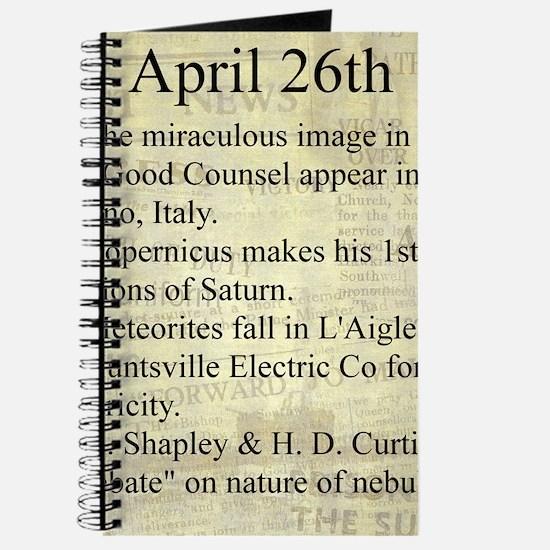 April 26th Journal