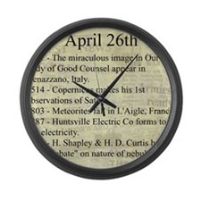 April 26th Large Wall Clock