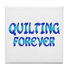Quilting Forever Tile Coaster
