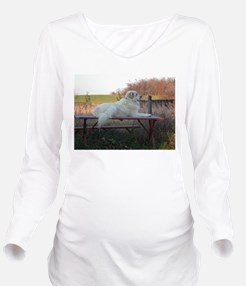 Great Pyrenees Long Sleeve Maternity T-Shirt