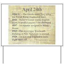 April 24th Yard Sign