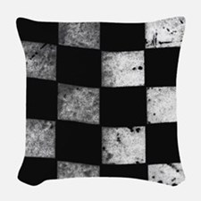 Checkered Flag Woven Throw Pillow