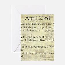April 23rd Greeting Cards