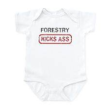 FORESTRY kicks ass Infant Bodysuit
