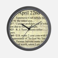 April 22nd Wall Clock